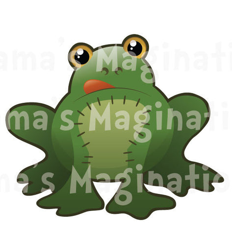 Children's Room Frog Removable & Reusable Vinyl Decal
