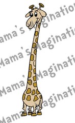 Children's Room Funky Giraffe Removable & Reusable Vinyl Decal