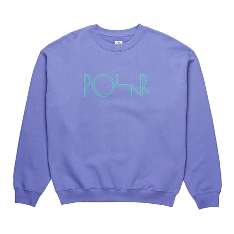 POLAR SKATE CO. AMERICAN FLEECE CREWNECK VIOLET/GREEN