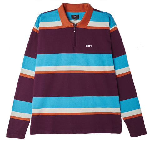 OBEY STRUCTURE POLO L/S PURPLE MULTI