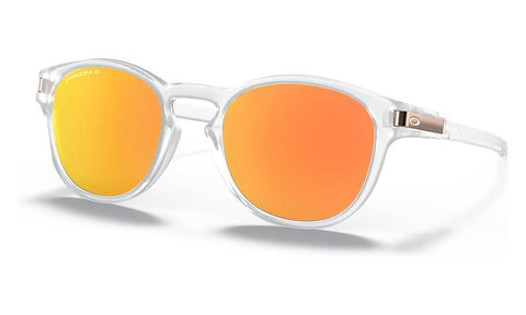 OAKLEY LATCH FRAME: MATTE CLEAR LENS: PRIZM ROSE GOLD POLARIZED