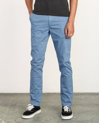 RVCA DAGGERS SLIM-STRAIGHT CHINO CHINA BLUE