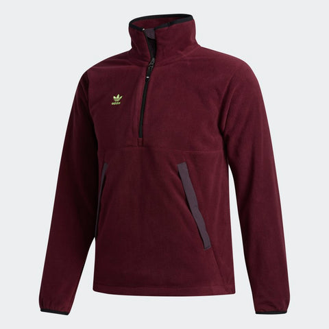 ADIDAS POLAR ANORAK JACKET MAROON/MINERAL RED/SIGNAL GREEN
