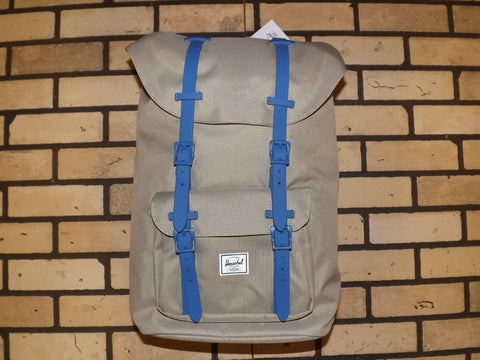 HERSCHEL LITTLE AMERICA BACKPACK BRINDLE/COBALT NATIVE RUBBER