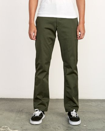 RVCA WEEK-END STRETCH PANT  FOREST
