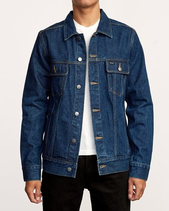 RVCA DAGGERS DENIM JACKET RAW BLUE