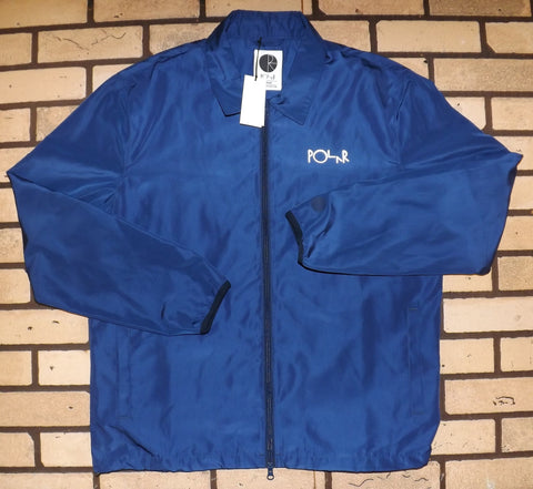 POLAR SKATE CO. COACH JACKET ZIP UP NAVY/REFLECTIVE