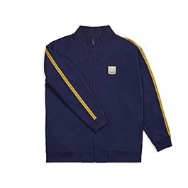 BRIXTON UNITED MOCK NECK ZIP PATRIOT BLUE