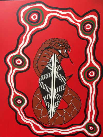 'Gane - Kaan' 'Warrior Snake' - Indigenous Round 2020, Manningham Football Club
