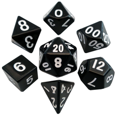 Metal Dice: 16mm Painted Polyhedral Sets