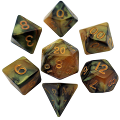 Acrylic Dice : Combo Attack Polyhedral Sets