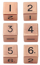 6 Count Metal d6 Sets