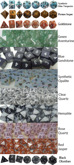 First Tier 16mm Gemstone Polyhedral Dice Sets