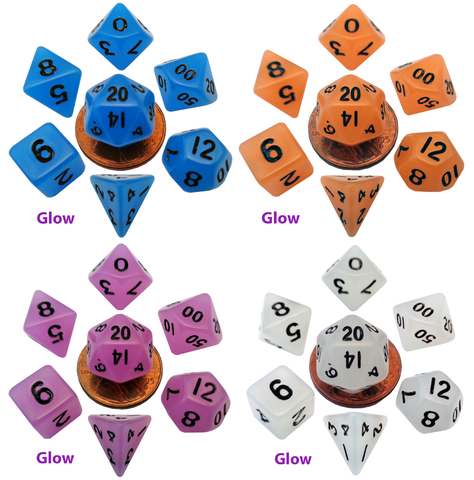 10mm Mini Glow in the Dark Dice