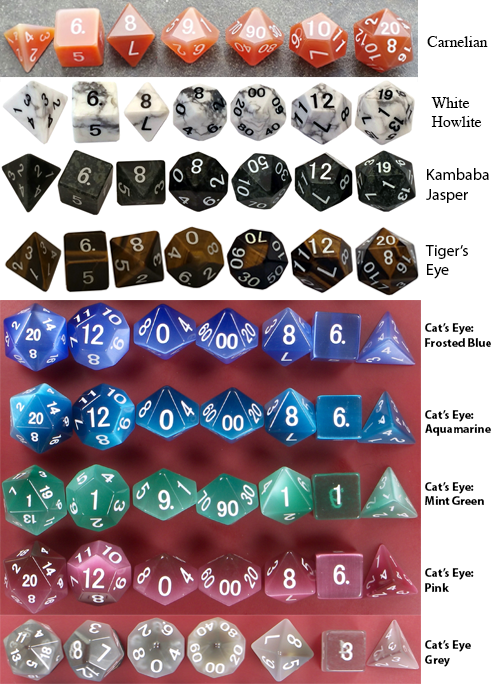 Second Tier 16mm Gemstone Polyhedral Sets