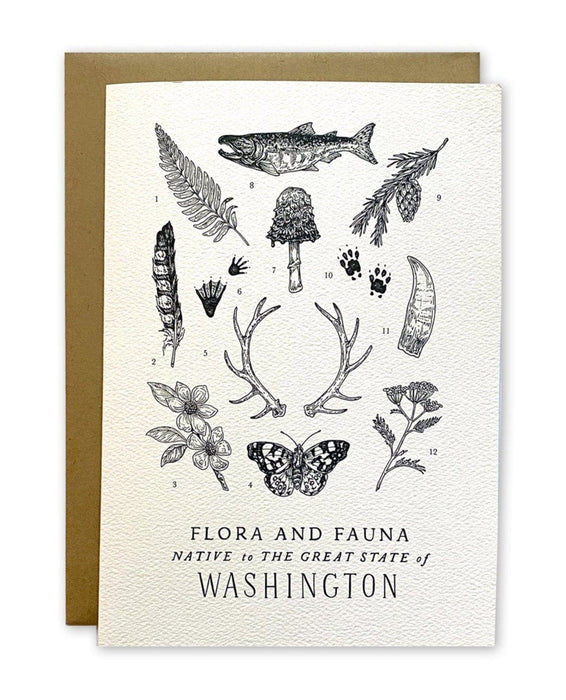 Washington Field Guide Greeting Card