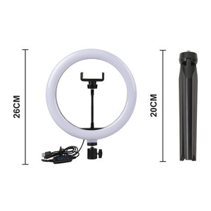 Open image in slideshow, Selfie Ring Light With Tripod Stand