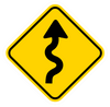 Road Sign Curvy