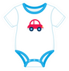 Onesie Blue with Car
