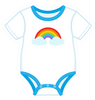 Onesie Blue with Rainbow