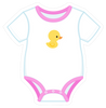 Onesie Pink with Duckie
