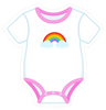 Onesie Pink with Rainbow