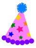 Party Hat Pink with Stars