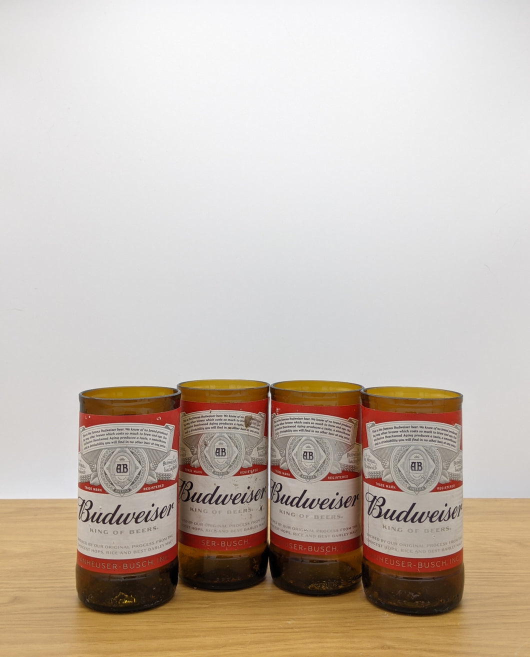 Budweiser beer bottle tumblers