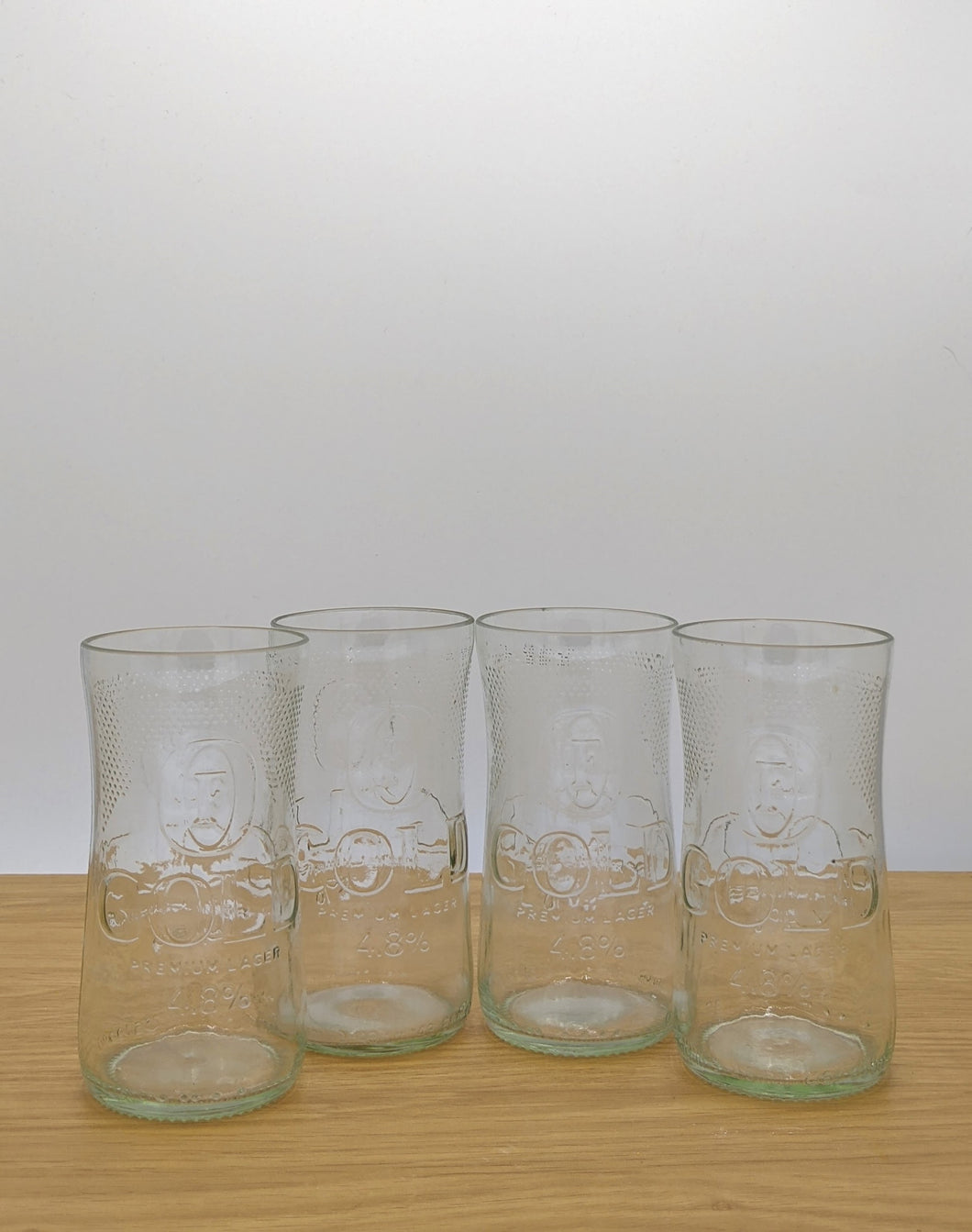 Fosters beer bottle tumblers (set of four)
