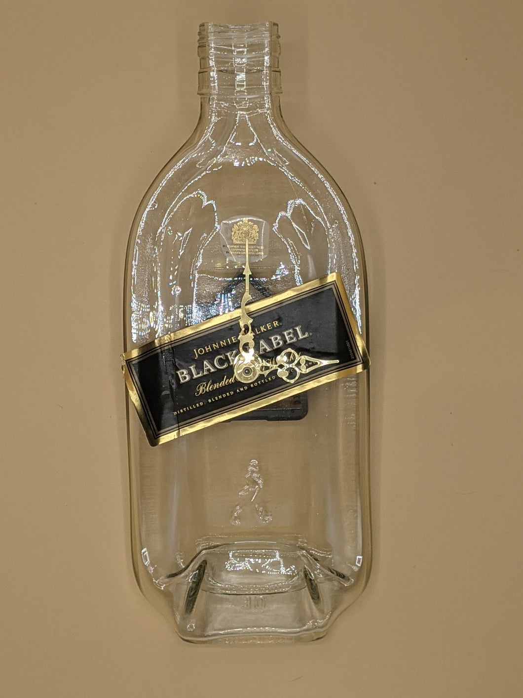 Johnny Walker Black Label whisky bottle clock