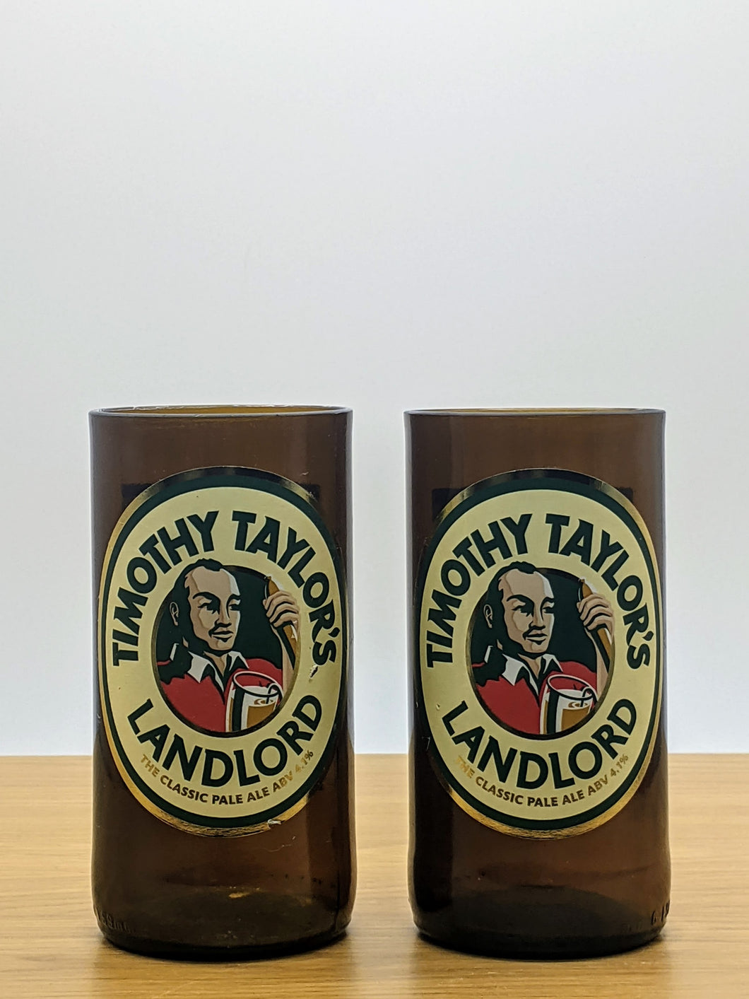 Timothy Taylor's Landlord beer bottle tumblers