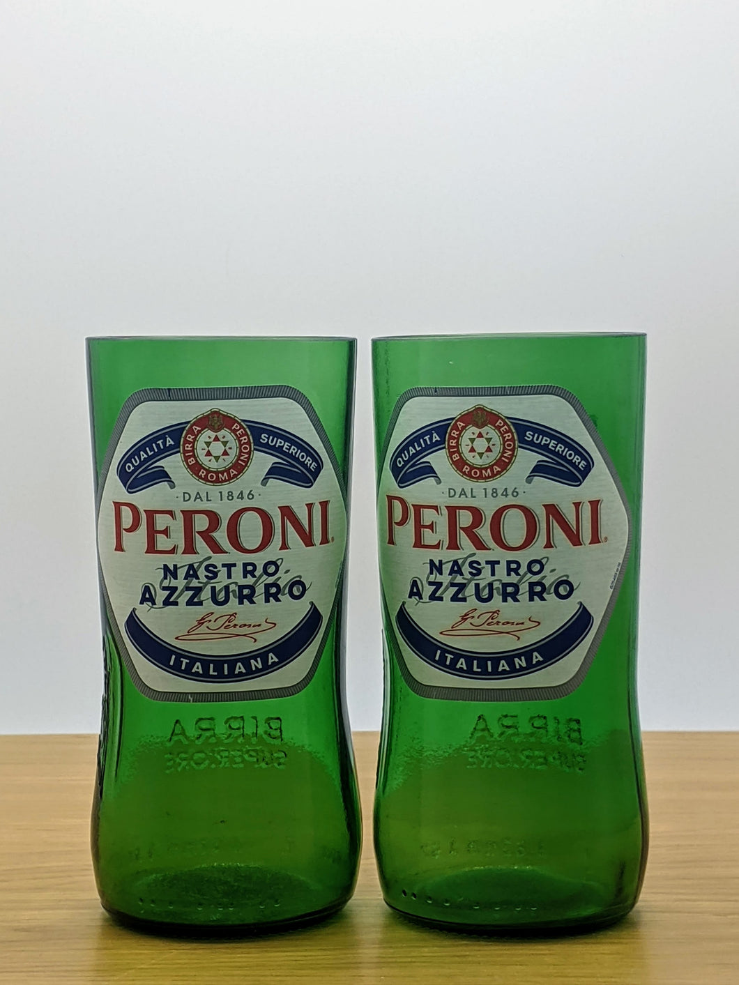 Peroni beer bottle tumblers