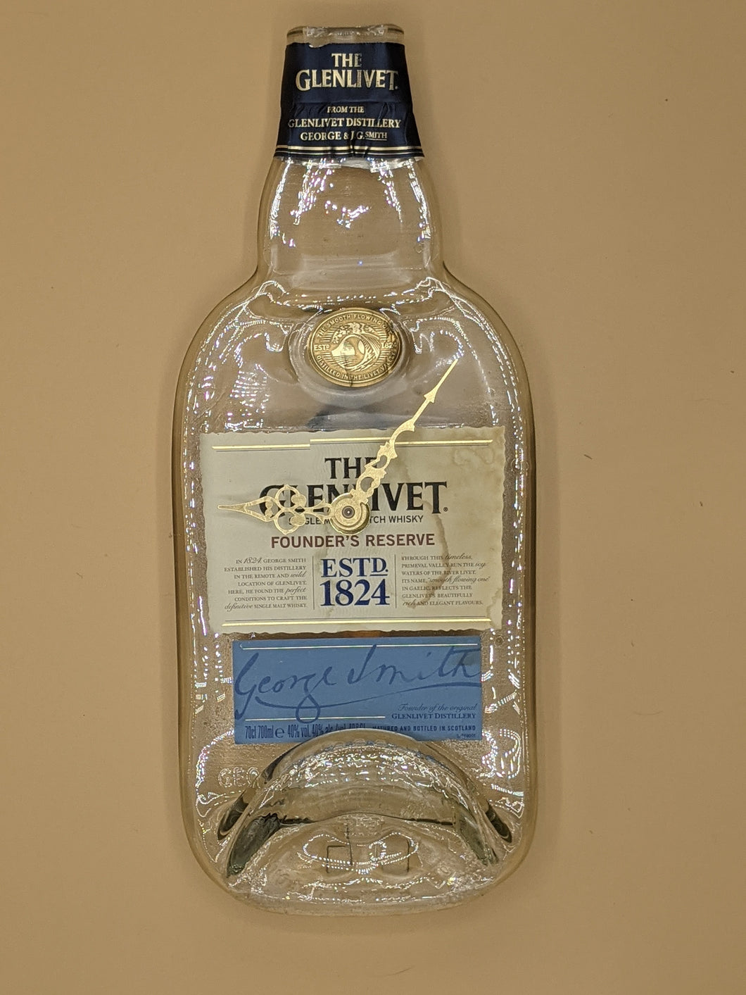 The Glenlivet whisky bottle clock
