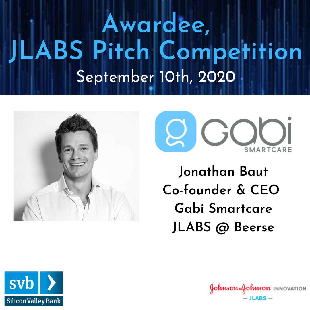 Gabi SmartCare is proud to be an awardee of the 2020 JLABS – Silicon Valley Bank Pitch Competition.