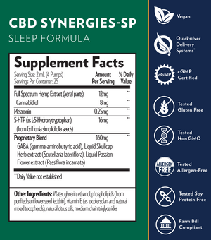 CBD Synergies-SP Sleep Formula (1.7 fl oz)
