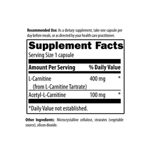 Carnitine Synergy 120 capsules - New Metabolism Store