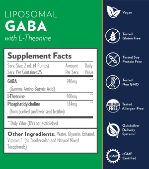 Liposomal GABA with L-Theanine (1.7 fl oz)