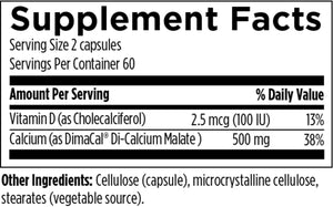 Calcium Malate: 120 capsules - New Metabolism Store