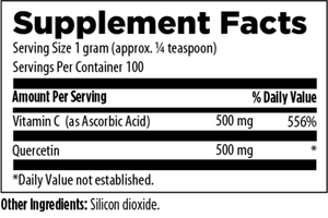 Quercetin Ascorbate 100 gm Powder - New Metabolism Store