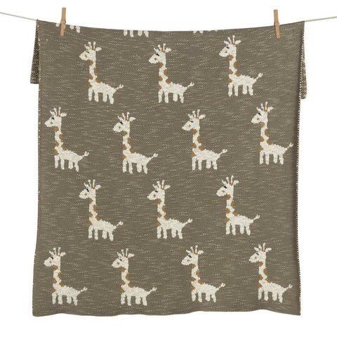 Tricot Couverture- On The Go - Girafe