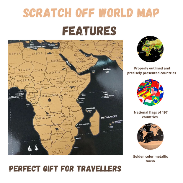 Scratch Off World Map With Flags