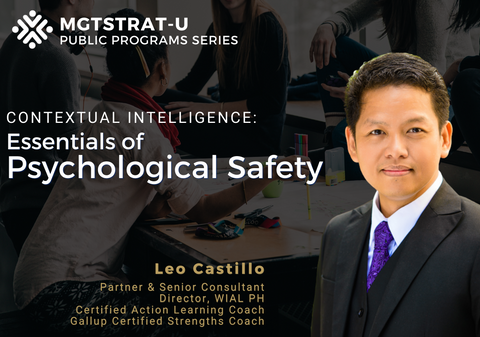 Essentials of Psychological Safety