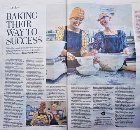 """Yorkshire Post interview """"Baking their way to success"""""""