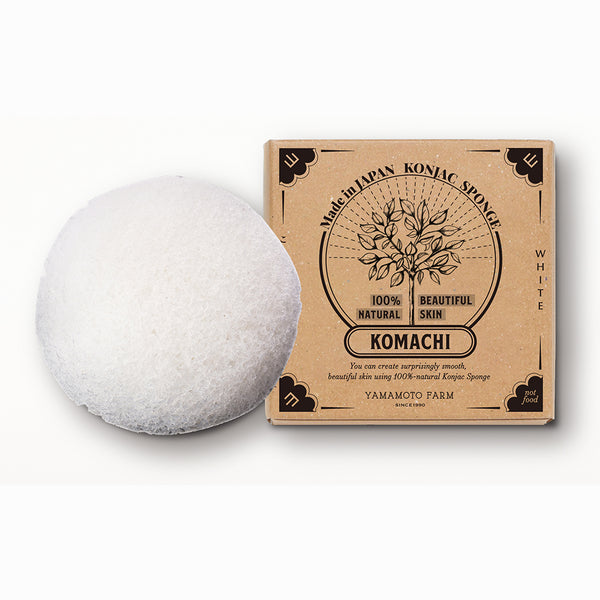 Konjac Sponge KOMACHI White 12 pieces