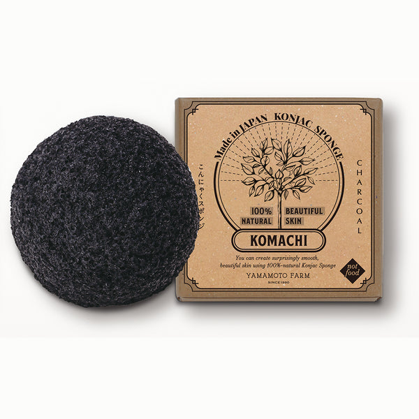 Konjac Sponge KOMACHI Charcoal 12 pieces