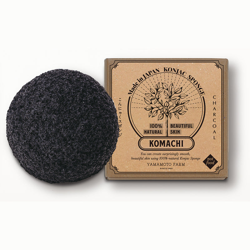 Konjac Sponge KOMACHI Charcoal 6 pieces