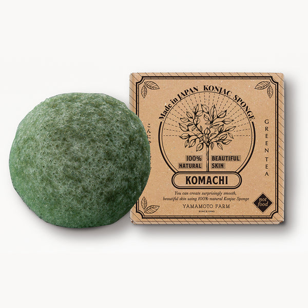 Konjac Sponge KOMACHI Green Tea 12 pieces