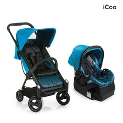 I'coo Acrobat and IGuard35 Travel System - Fishbone Blue