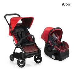 I'coo Acrobat and IGuard35 Travel System - Fishbone Red