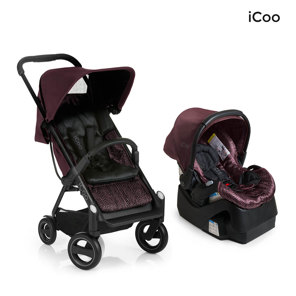 I'coo Acrobat and IGuard35 Travel System - Fishbone Bordeaux